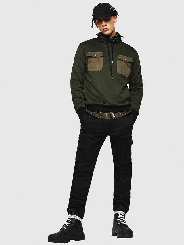 Diesel - S-TENKO, Dark Green - Sweatshirts - Image 6
