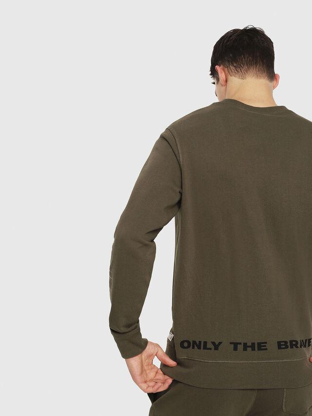 Diesel - UMLT-WILLY, Military Green - Sweatshirts - Image 2