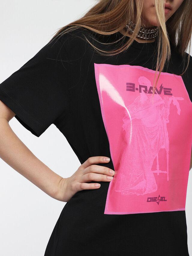 Diesel - T-DARIA-C, Black/Pink - T-Shirts - Image 3