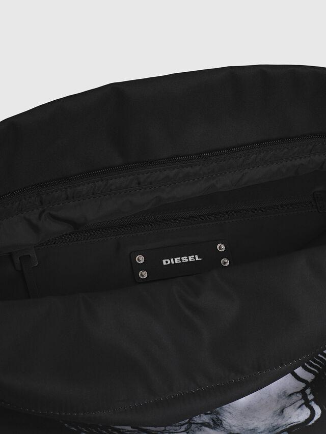 Diesel - F-LITT SHOPPER EW, Black/White - Clutches - Image 4