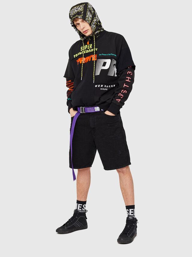 Diesel - D-WILLOH, Black/Dark Grey - Shorts - Image 5