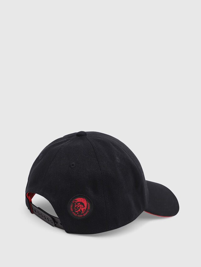 Diesel - DVL-CAPO-CAPSULE, Black/Red - Caps, Hats and Gloves - Image 4