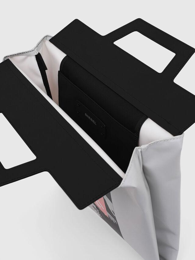 Diesel - F-ARZI SHOPPER, White/Black - Shopping and Shoulder Bags - Image 3