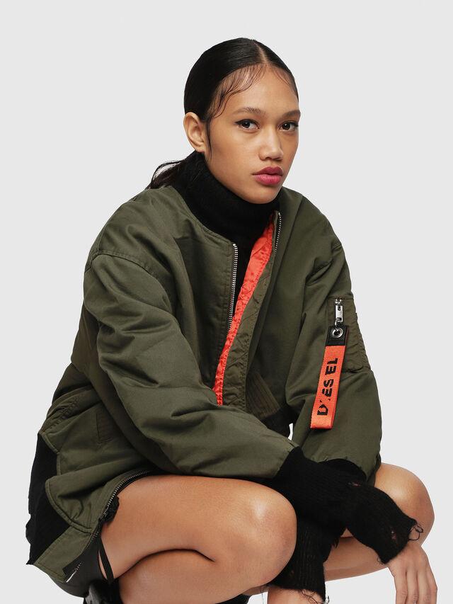 Diesel - W-ZALIA, Military Green - Winter Jackets - Image 4