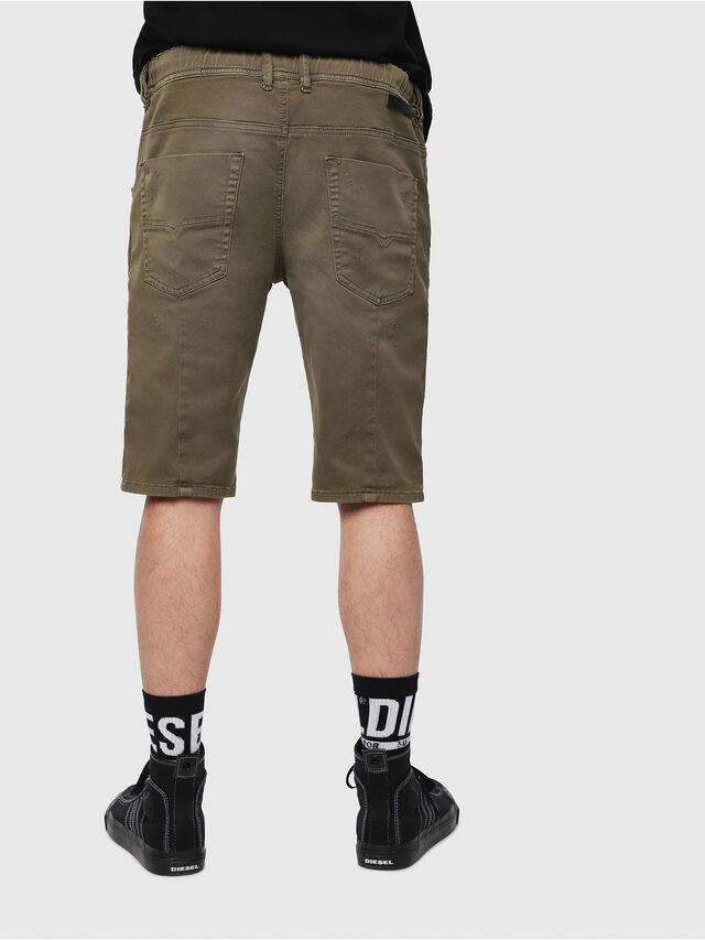 Diesel - D-KROOSHORT JOGGJEANS, Military Green - Shorts - Image 2