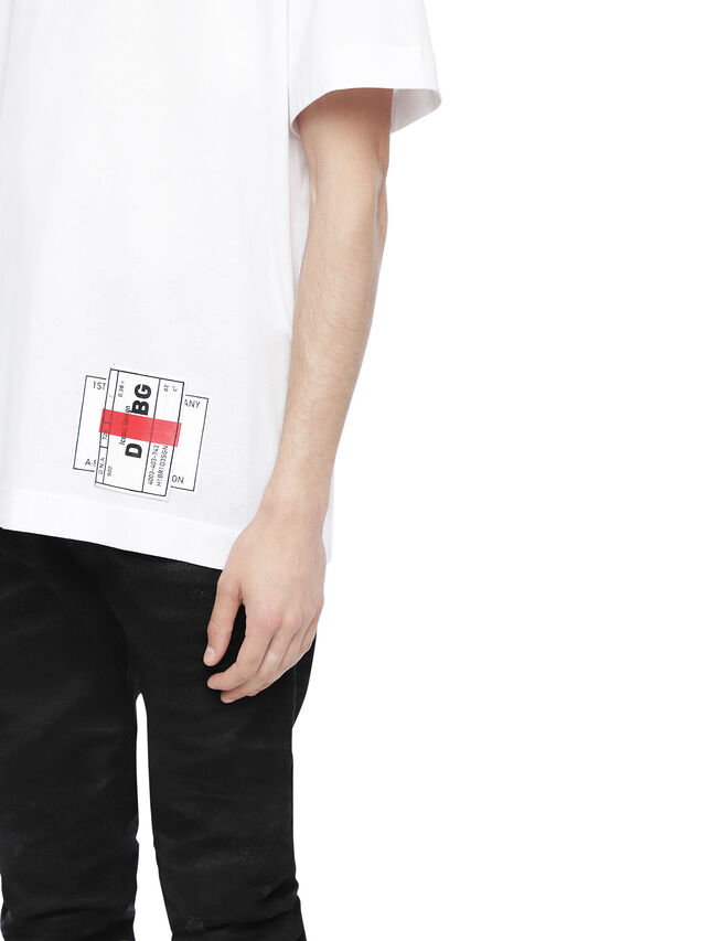 Diesel - TEORIAL-PATCH, White - T-Shirts - Image 3