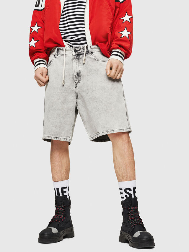 Diesel - D-WILLOH, Light Grey - Shorts - Image 1