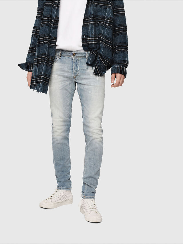 Diesel - Sleenker 081AJ, Light Blue - Jeans - Image 1