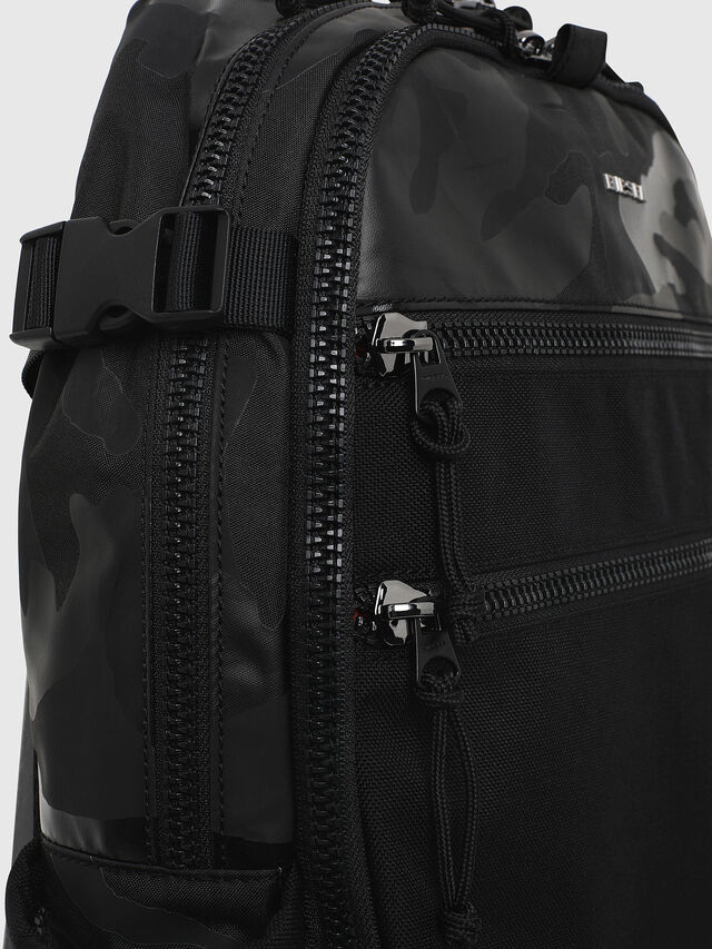 Diesel - F- URBHANITY BACK, Blue/Black - Backpacks - Image 3
