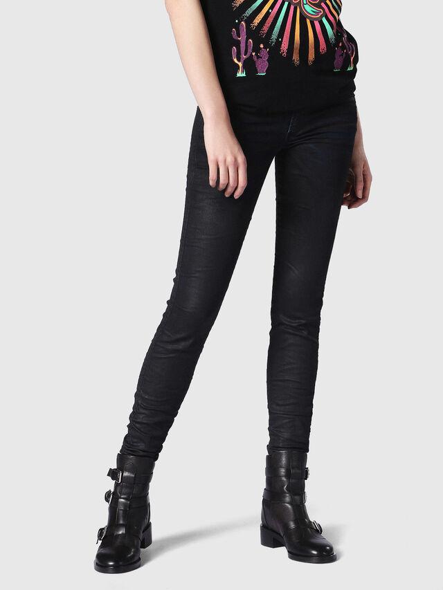Diesel - Gracey JoggJeans 0688U, Black/Dark Grey - Jeans - Image 1