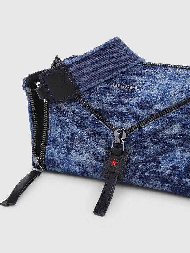 Diesel - LE-ZIPPER CROSSBODY, Blue/White - Crossbody Bags - Image 4