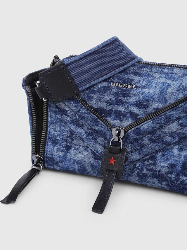 Diesel - LE-ZIPPER CROSSBODY, Blue/White - Crossbody Bags - Image 4