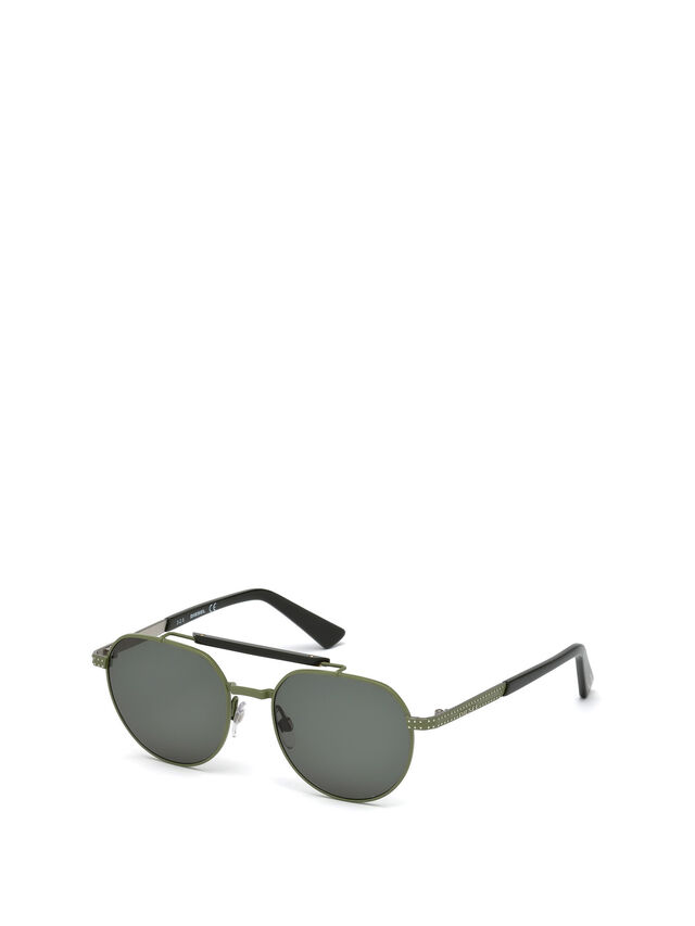 Diesel - DL0239, Military Green - Sunglasses - Image 4