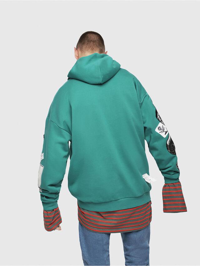 Diesel - S-JACK-YA, Water Green - Sweatshirts - Image 2