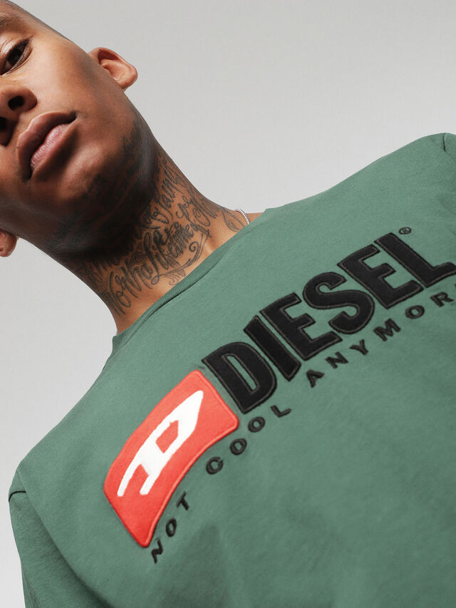 Diesel - HC-T-JUST-DIVISION, Bottle Green - T-Shirts - Image 6
