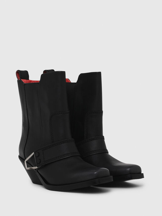 81d04097 D-GIUDECCA MA Women: Cowboy-style ankle boots in leather | Diesel