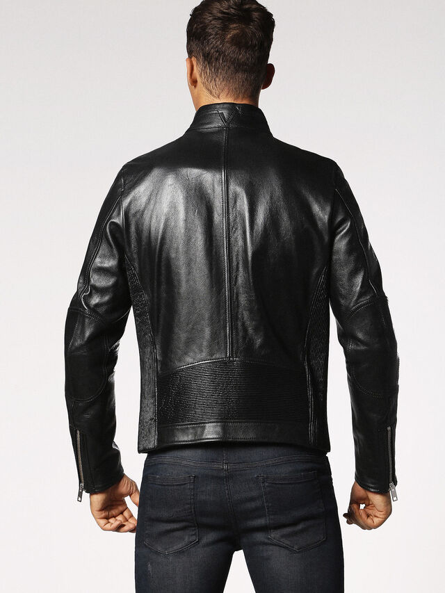 Diesel - L-RUSH, Black - Leather jackets - Image 2