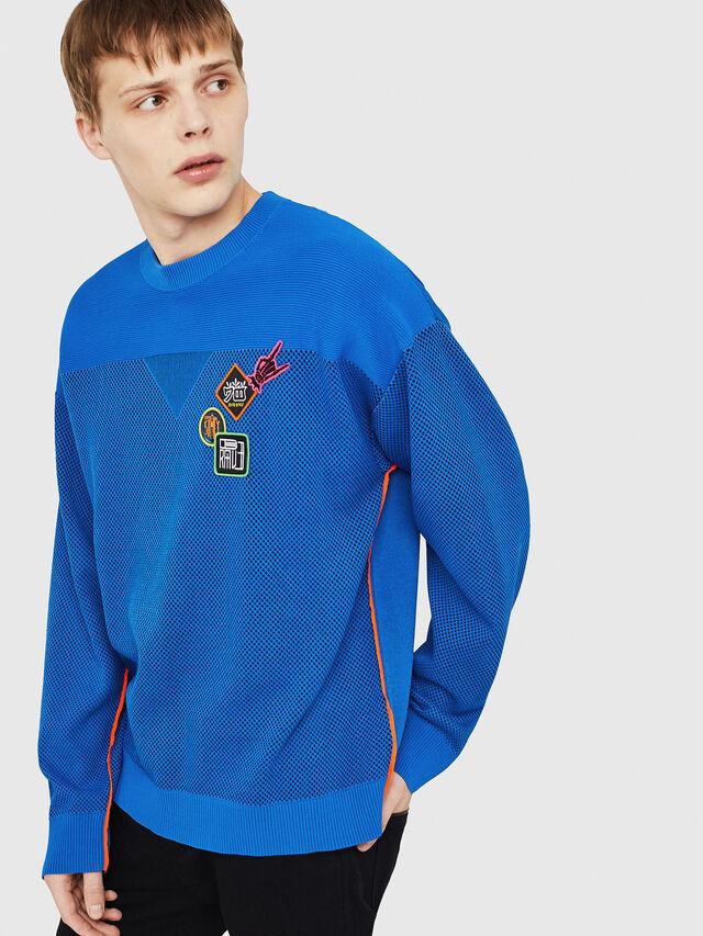 Diesel - K-TREY, Brilliant Blue - Sweaters - Image 4