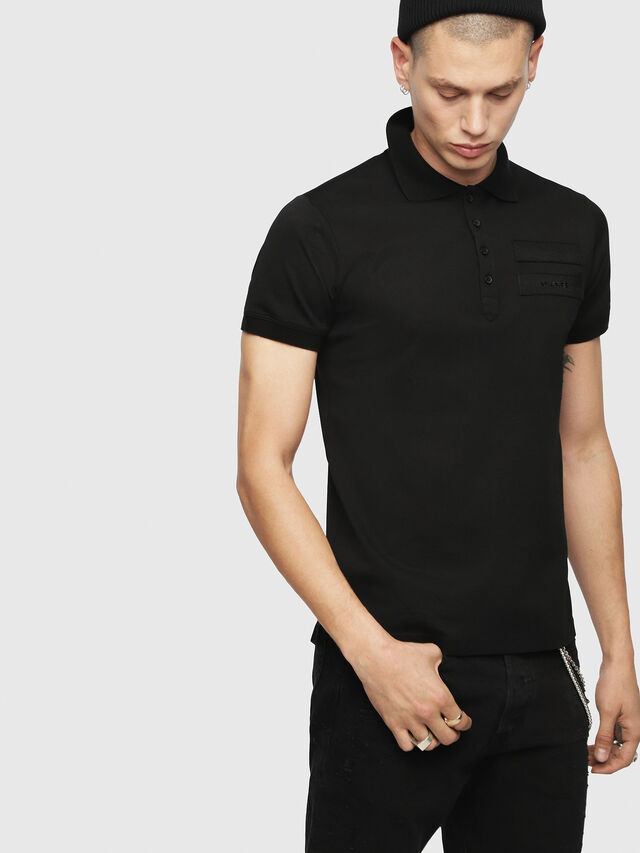 Diesel - T-MIKIO, Black - Polos - Image 1