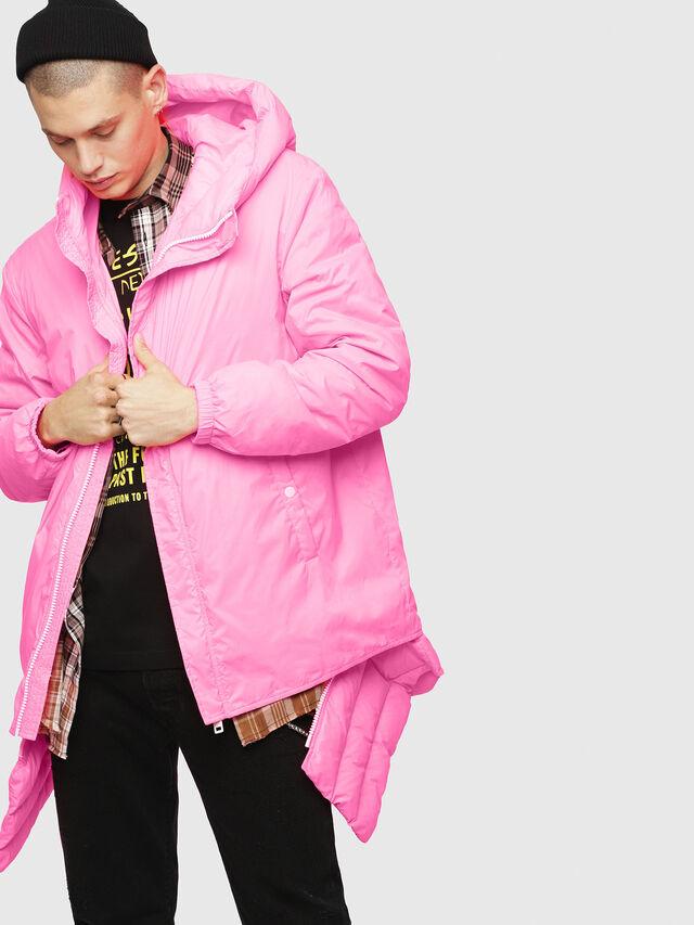 Diesel - W-SUN-REV-A, Pink Fluo - Winter Jackets - Image 3