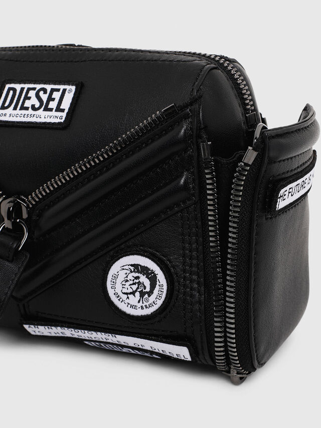 Diesel - LE-ZIPPER CROSSBODY, Black - Crossbody Bags - Image 5