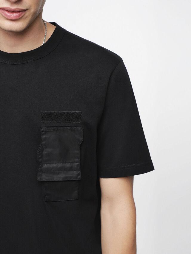 Diesel - T-WALLET, Black - T-Shirts - Image 3