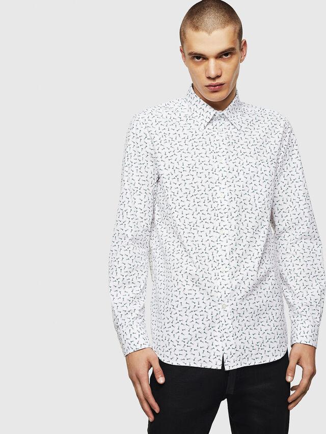Diesel - S-VEN-NAIL, White - Shirts - Image 1