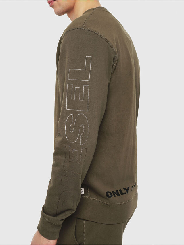 Diesel - UMLT-WILLY, Military Green - Sweatshirts - Image 3