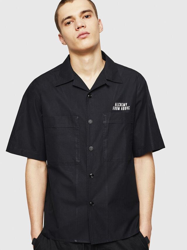 Diesel - S-KULKOV, Black - Shirts - Image 1