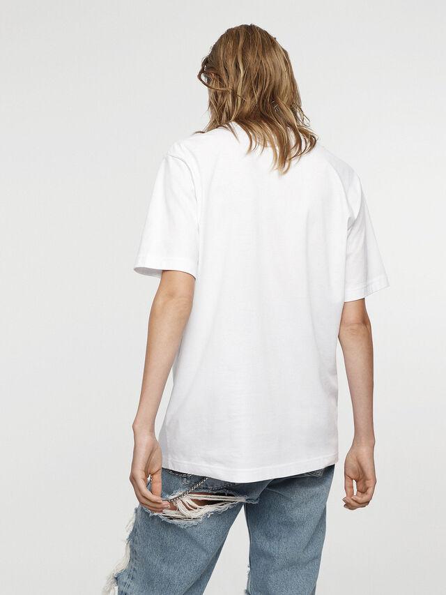 Diesel - HC-T-JUST-DIVISION-C, White - T-Shirts - Image 3