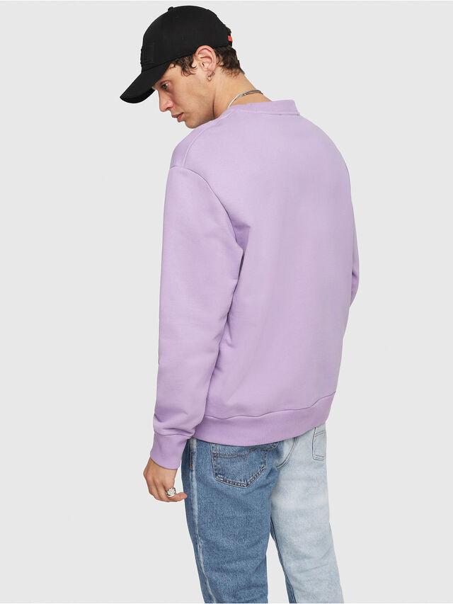 Diesel - S-CREW-DIVISION, Lilac - Sweatshirts - Image 2