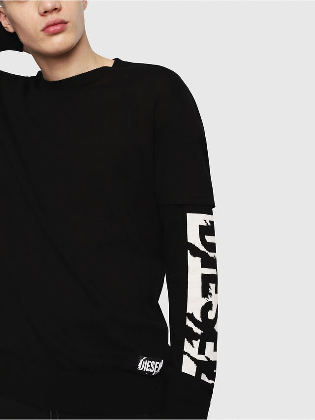Diesel - K-BETTE, Black/White - Sweaters - Image 3