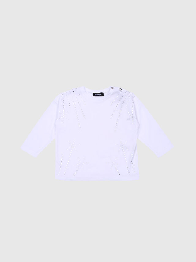 Diesel - TRIFFAB, White - T-shirts and Tops - Image 1