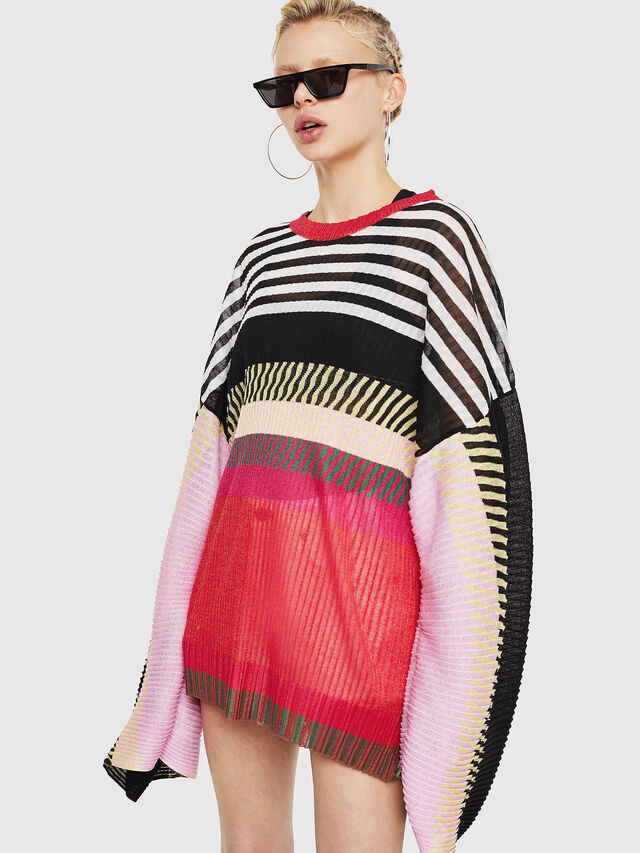 Diesel - M-PLEAT-A, Multicolor - Sweaters - Image 1