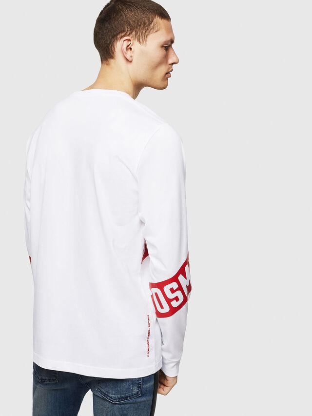 Diesel - T-JUST-LS-STAR, White - T-Shirts - Image 2
