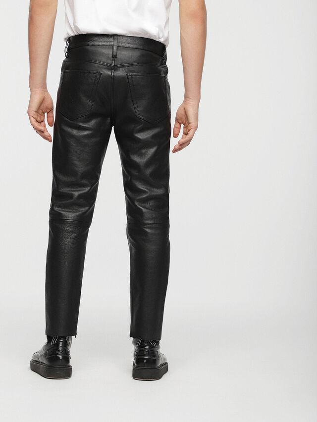 Diesel - P-MHARKY, Black Leather - Pants - Image 2