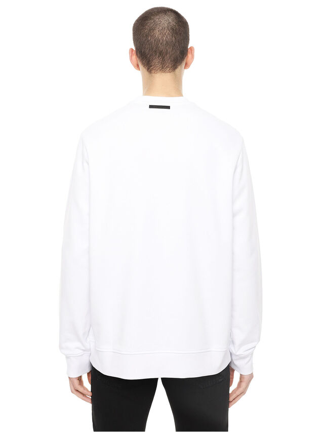 Diesel - SNEILB-DRIPPINGSOLDI, White - Sweatshirts - Image 2