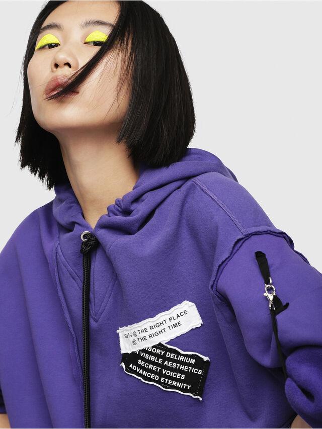 Diesel - F-MIKI, Violet - Sweatshirts - Image 3