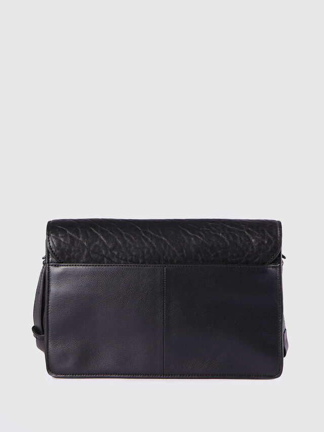 Diesel - LE-MISHA, Black Leather - Crossbody Bags - Image 2
