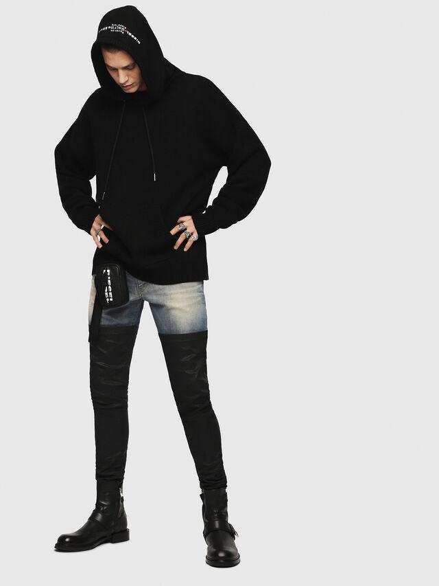 Diesel - K-NONAME, Black - Sweaters - Image 3