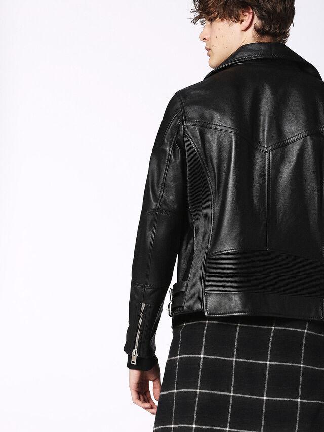 Diesel - L-KRAMPS, Black - Leather jackets - Image 5