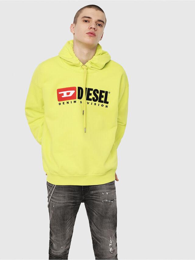 Diesel - S-DIVISION, Yellow Fluo - Sweatshirts - Image 1
