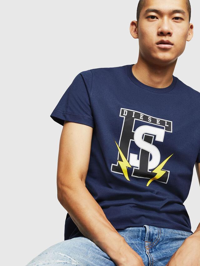 Diesel - T-DIEGO-B3, Blue - T-Shirts - Image 3