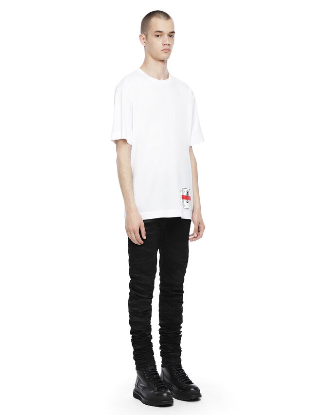 Diesel - TEORIAL-PATCH, White - T-Shirts - Image 4