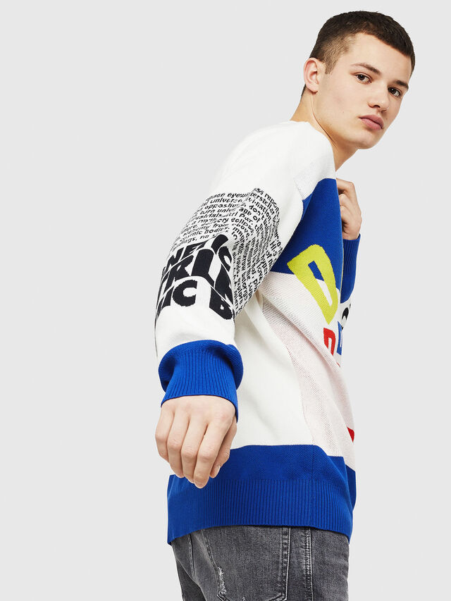 Diesel - K-RUBLO, White/Red/Blue - Sweaters - Image 4