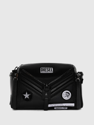 Leather cross-body bag with patches f1fd5488d7135