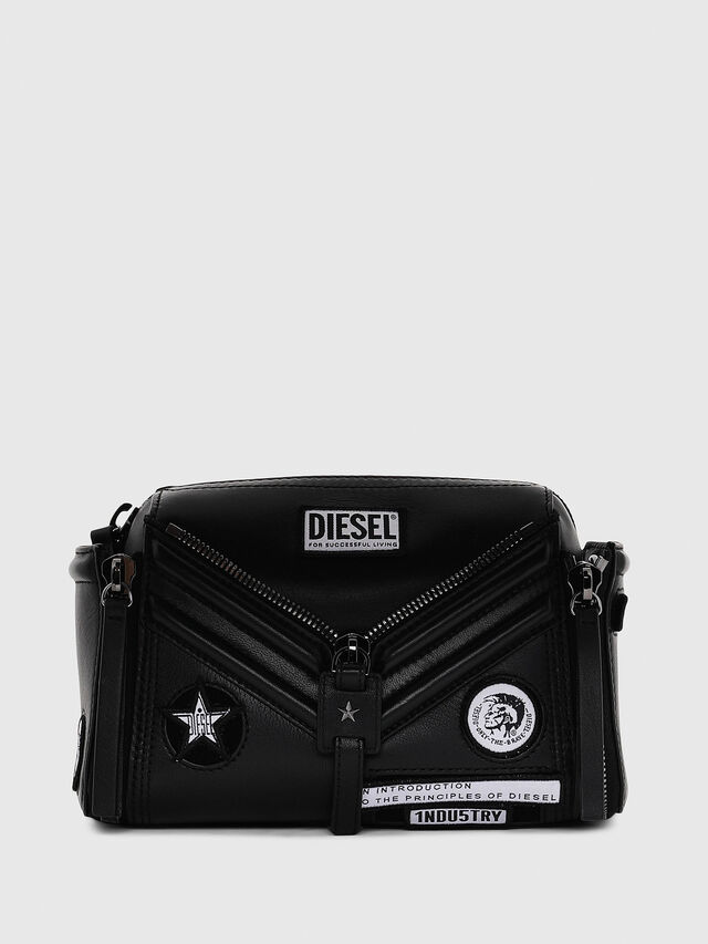 Diesel - LE-ZIPPER CROSSBODY, Black - Crossbody Bags - Image 1