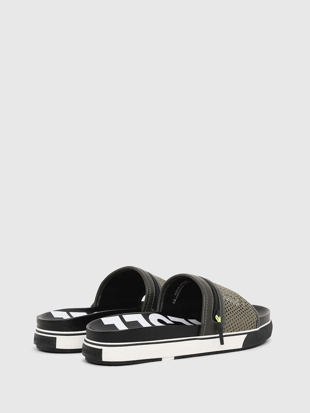 Diesel - SA-GRANDZ, Green/Black - Sandals - Image 3