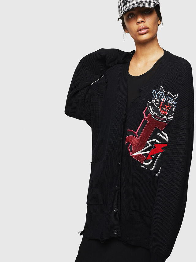 Diesel - M-JENNY, Black - Sweaters - Image 1