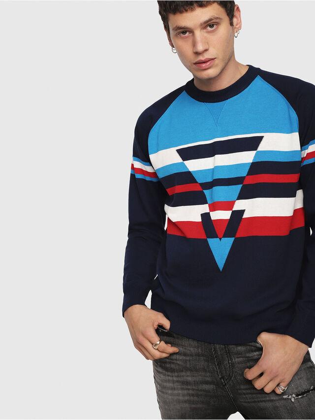 Diesel - K-SHUFF, Blue - Sweaters - Image 3
